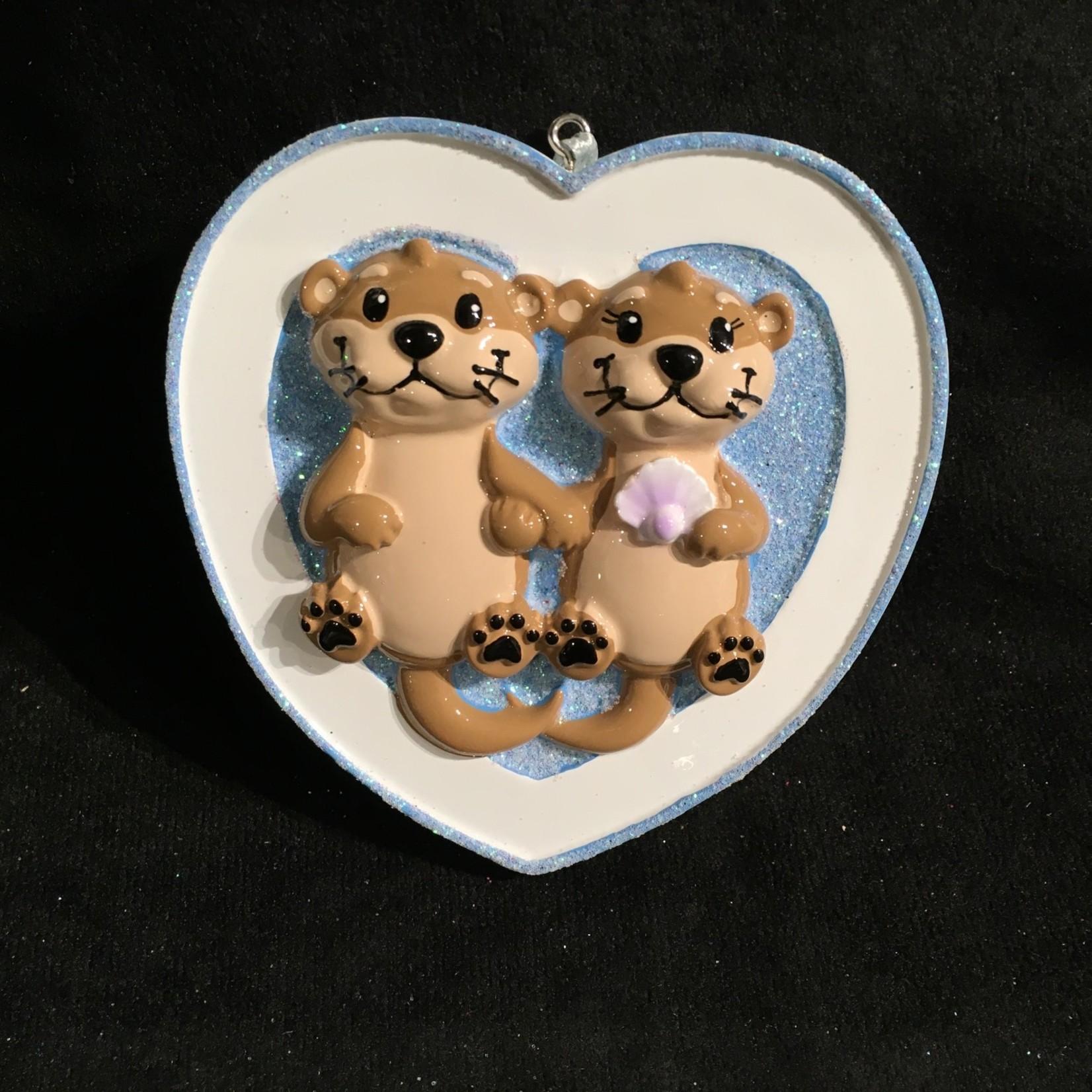Otter Couple Ornament