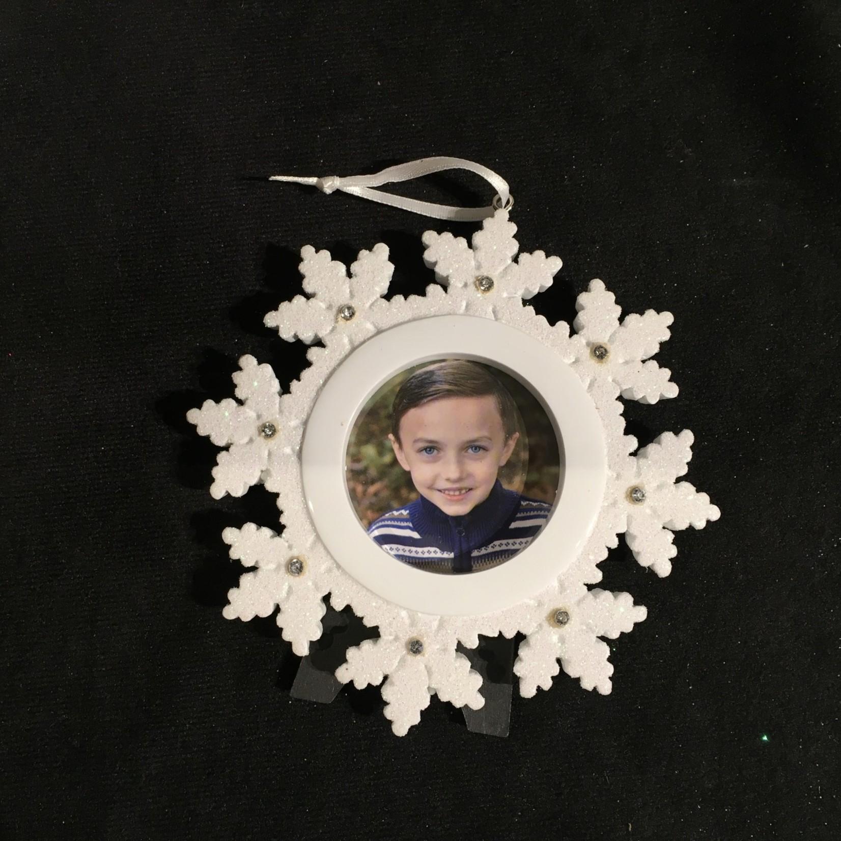 **Snowflake Photo Frame/Orn