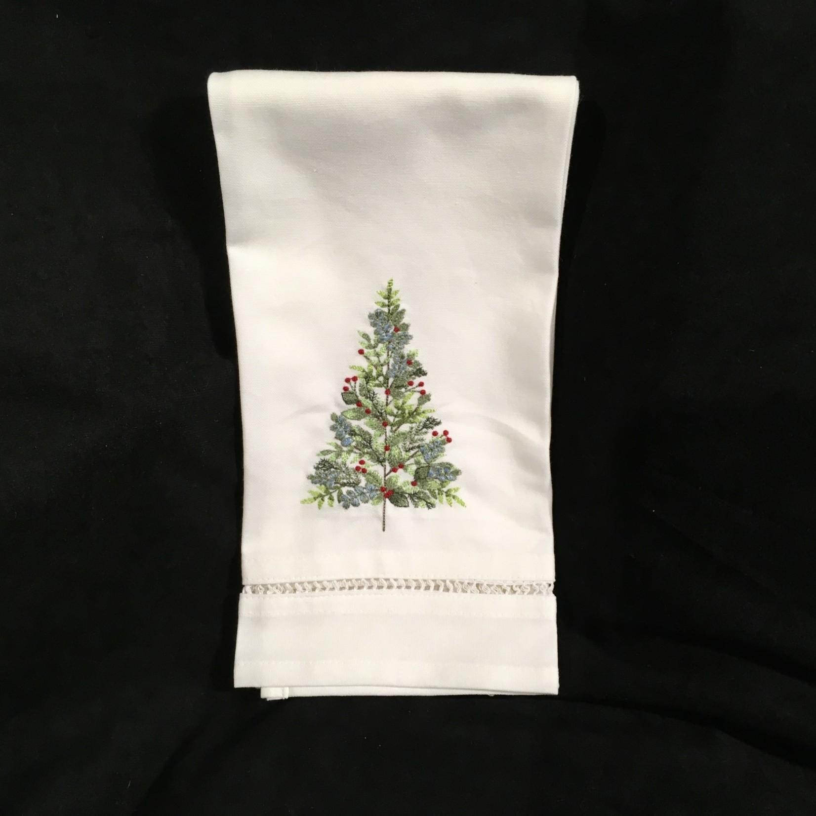 **Winter Berry Tree Tea Towel