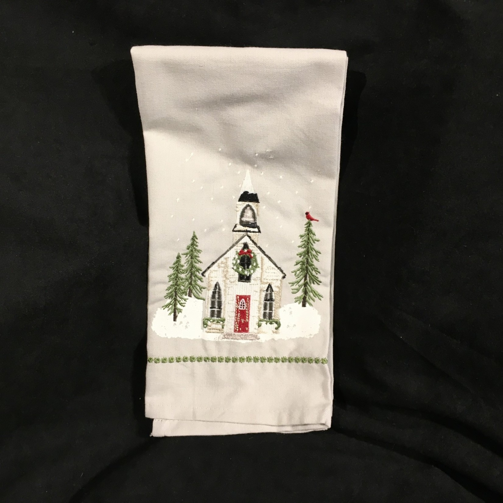 Christmas Church Tea Towl