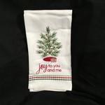 Joy To You And Me Tea Towel