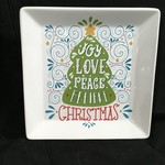 """Square Christmas Serving Plate (8x8"""")"""