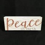 "Peace On Earth Block (Large) (12x4.5"")"