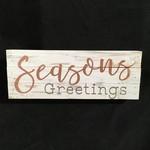 "Seasons Greetings Block (12x4.5"")"
