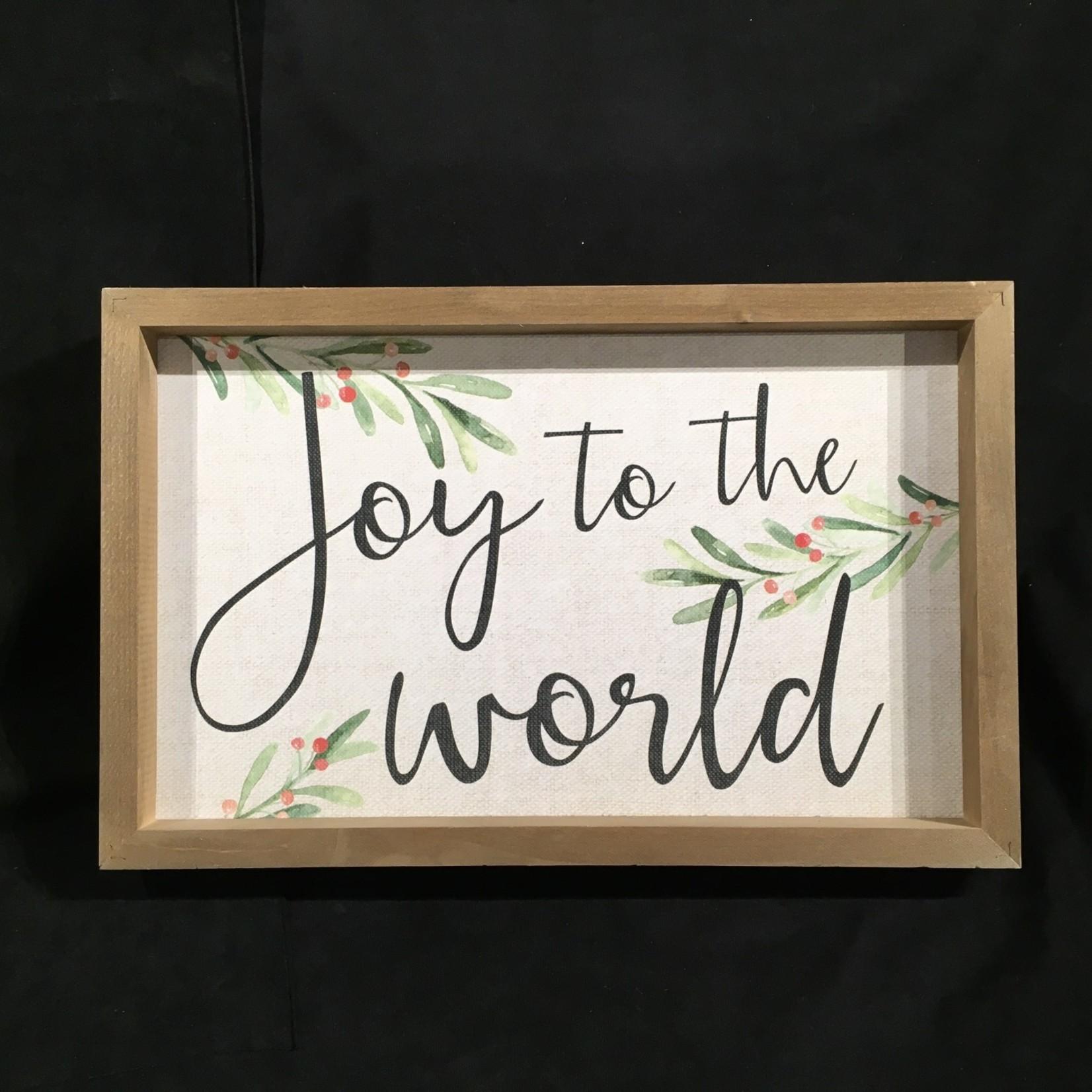 "Joy To The World Framed Sign (17.75x11.5"")"