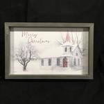 """**Farmhouse Frame - Merry Christmas (17.75x11.5"""")"""