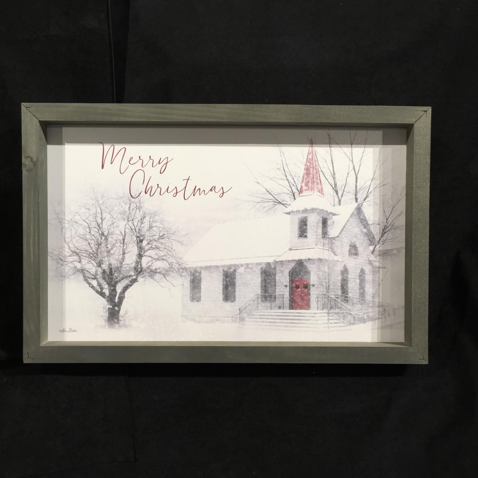"""Farmhouse Frame - Merry Christmas (17.75x11.5"""")"""