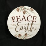 """**17"""" Round Peace On Earth Sign"""