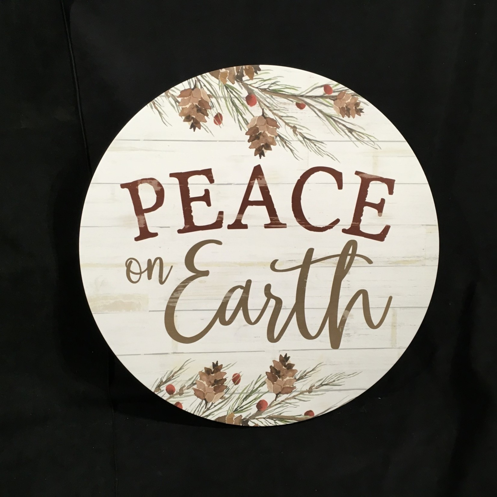 """17"""" Round Peace On Earth Sign"""