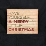"""Panel Sign - Merry Little Christmas(15.5x12.25"""")"""