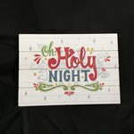 """Oh Holy Night Panel Sign (20.5x14.5"""")"""