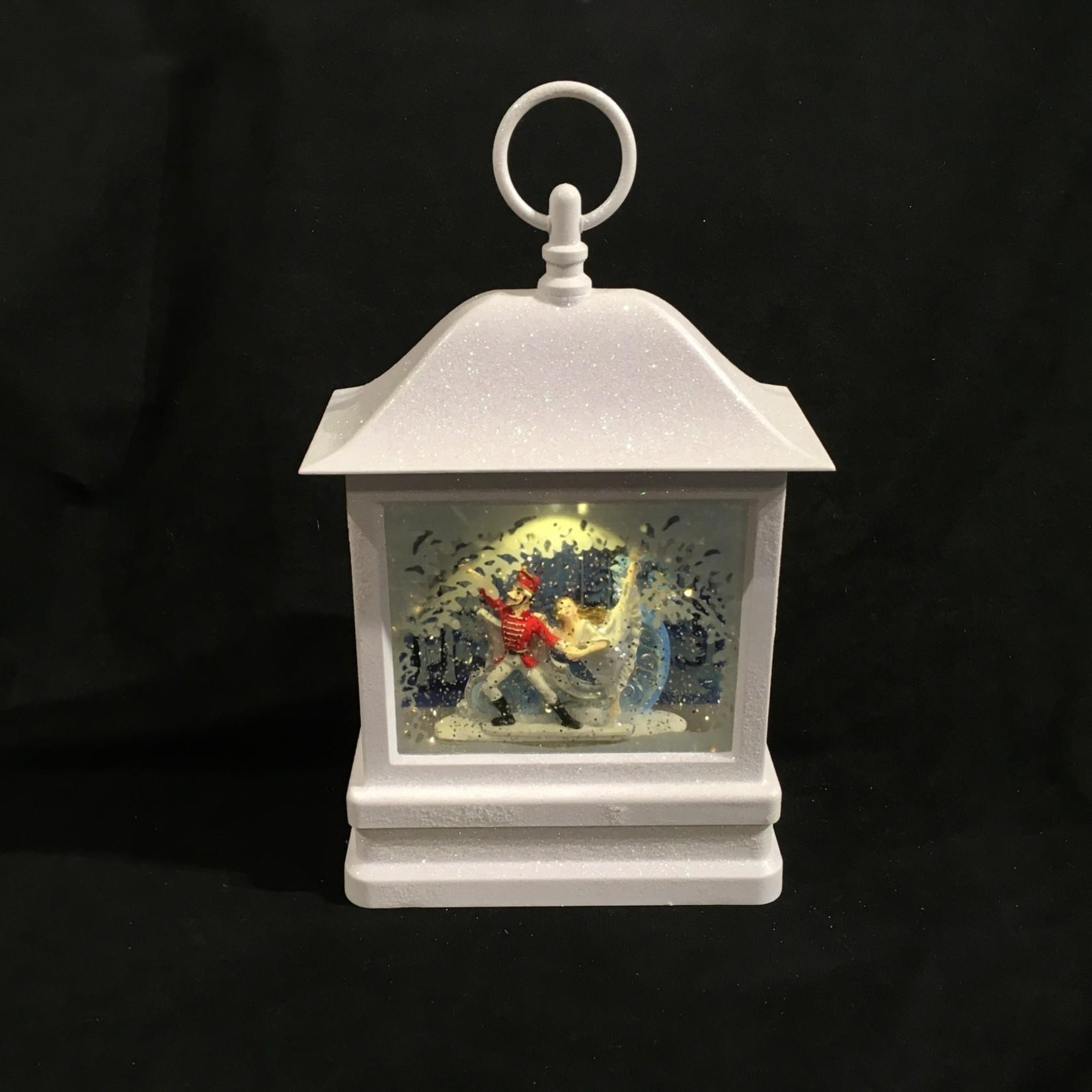 "11.5"" LED Nutcracker Swirl Lantern"