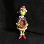 "Jim Shore - 5"" Grinch Holding Wreath Orn"