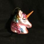 Glass Pink Unicorn Orn.