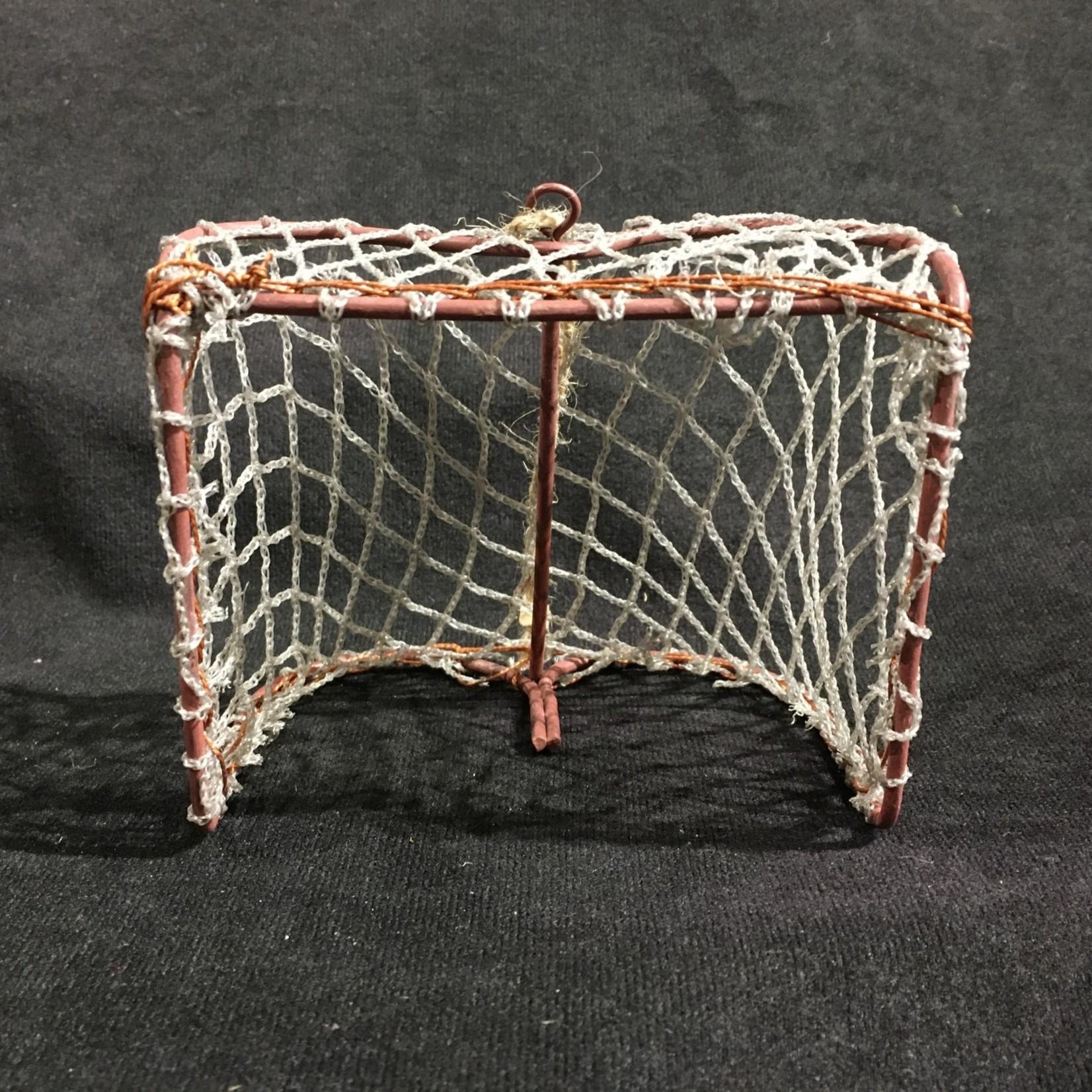 "Hockey Net Ornament 4.5x4"""