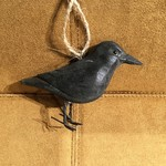 Carved Crow Ornament