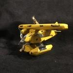 "**3.5"" Yellow Float Plane Orn"