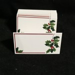 Holly Fold Placecard Holder (12 pc)