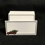 Plaid Truck Fold Placecard Holder (12 pc)