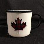 Plaid Maple Leaf Mug