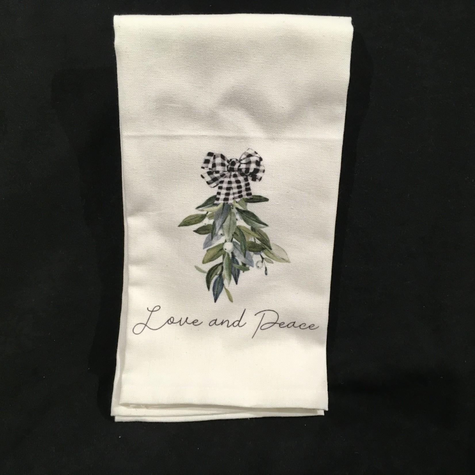 **Love & Peace Tea Towel