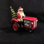 Jim Shore - Santa Driving Tractor Orn