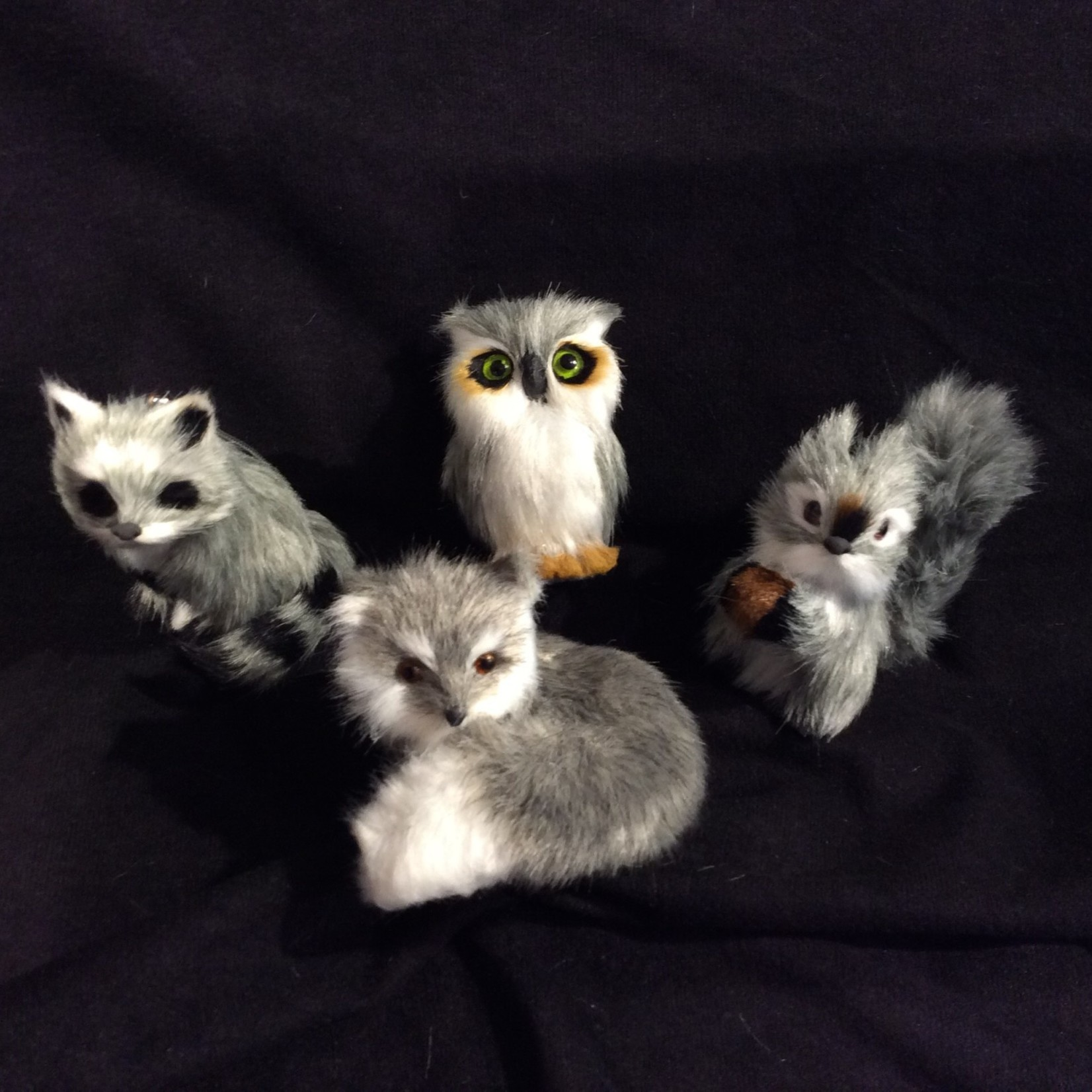 **Furry Gray Animal Orn. 4A