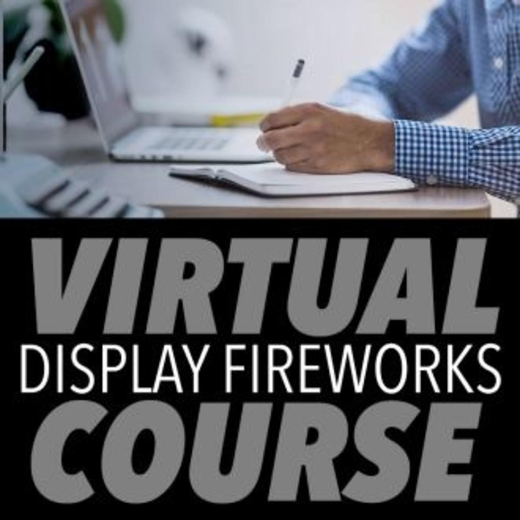 DISPLAY FIREWORKS SAFETY & AWARENESS VIRTUAL TRAINING