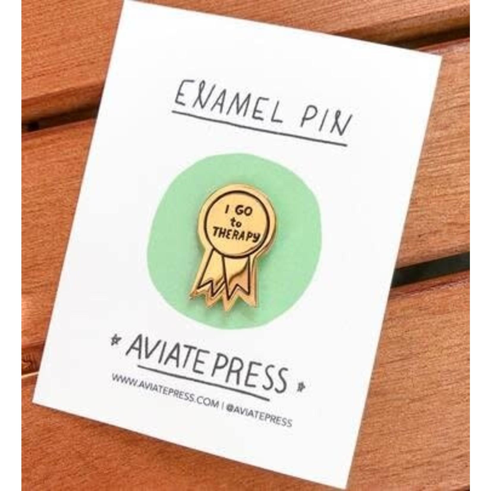 Aviate Press Aviate Press Enamel Pin
