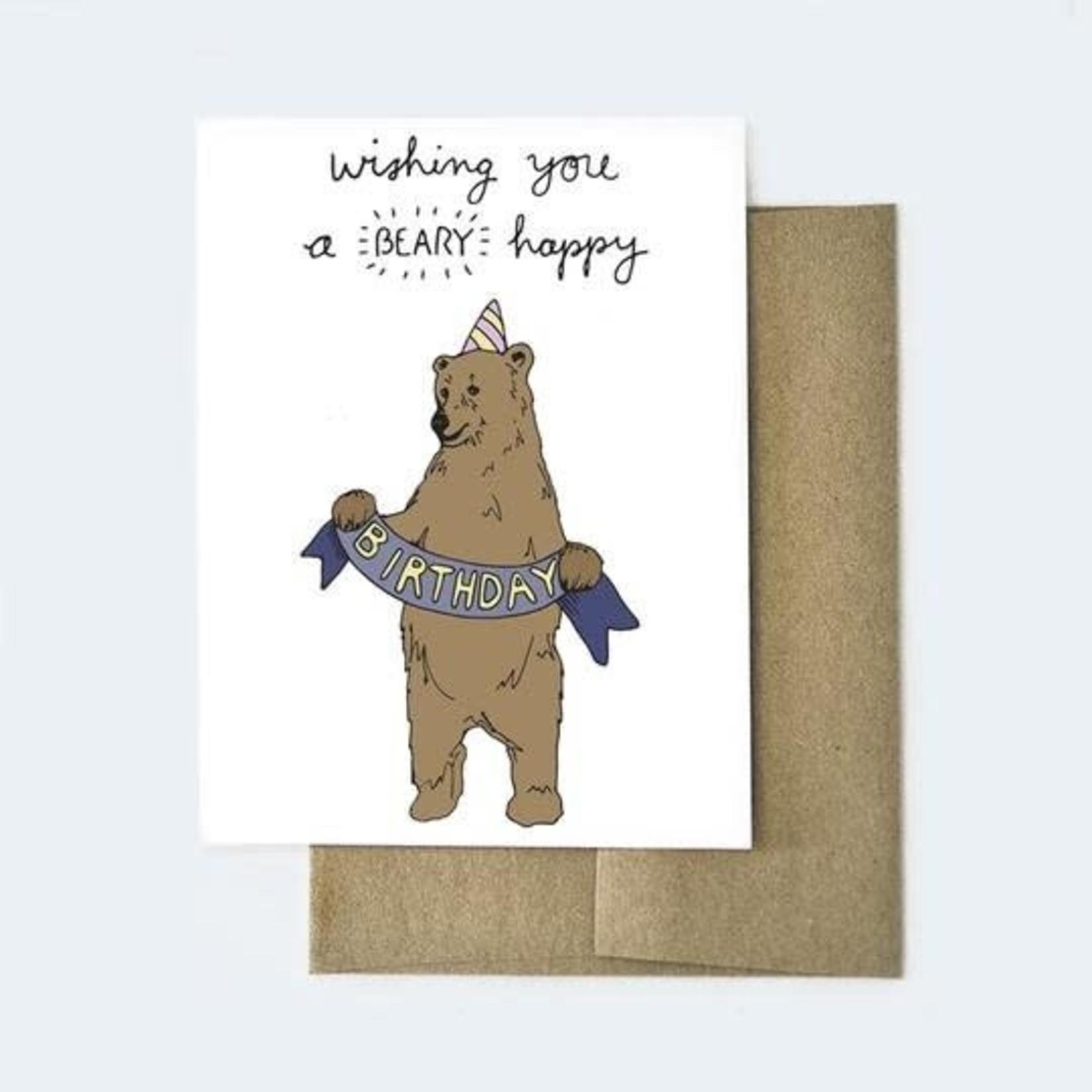 Aviate Press Beary Birthday Card
