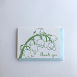 Macon York Press Lily of the Valley Thank You Card