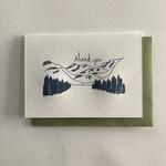 Macon York Press Mountains Thank You Card