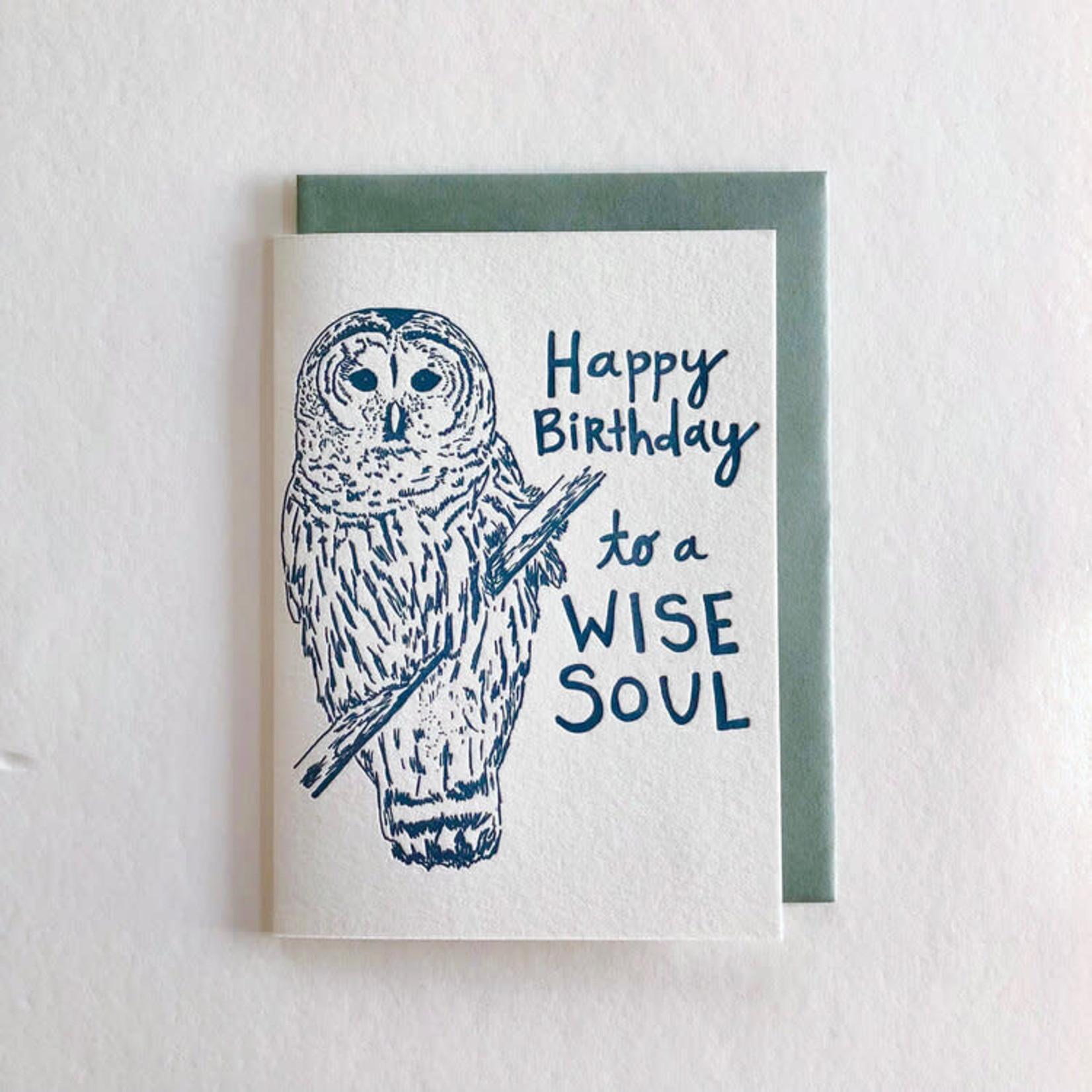 Macon York Press Wise Owl Birthday Card