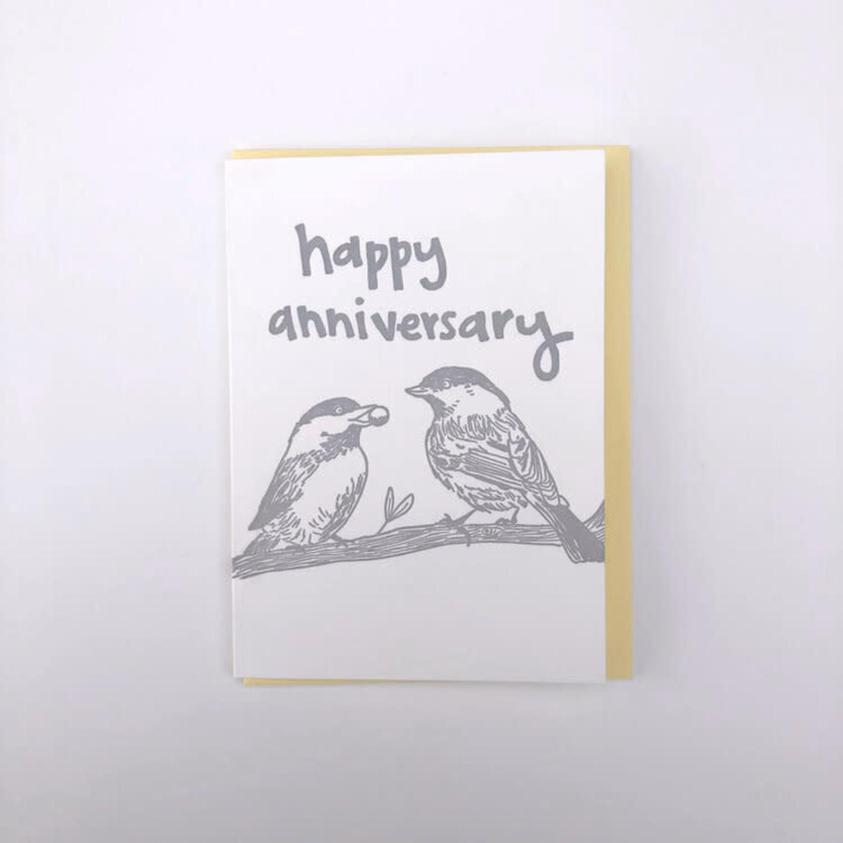 Macon York Press Happy Anniversary (Birds)