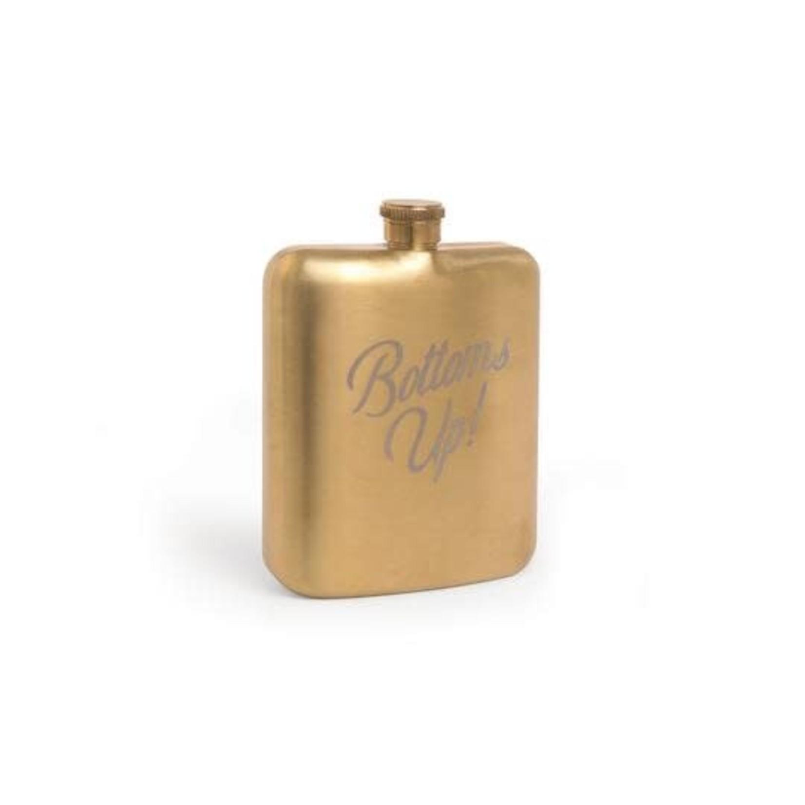 DesignWorks Gold Hip Flask