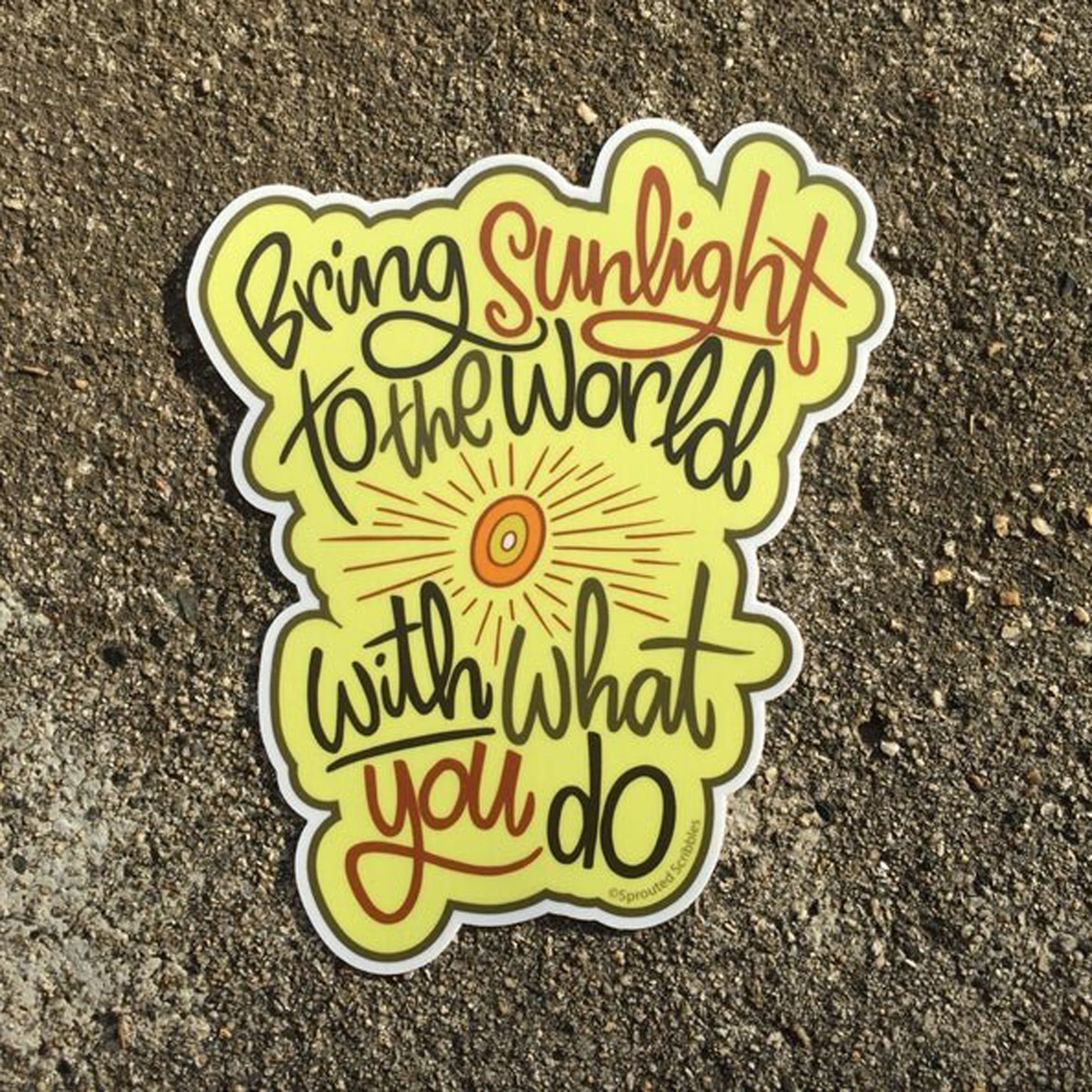 Sprouted Scribbles Sticker