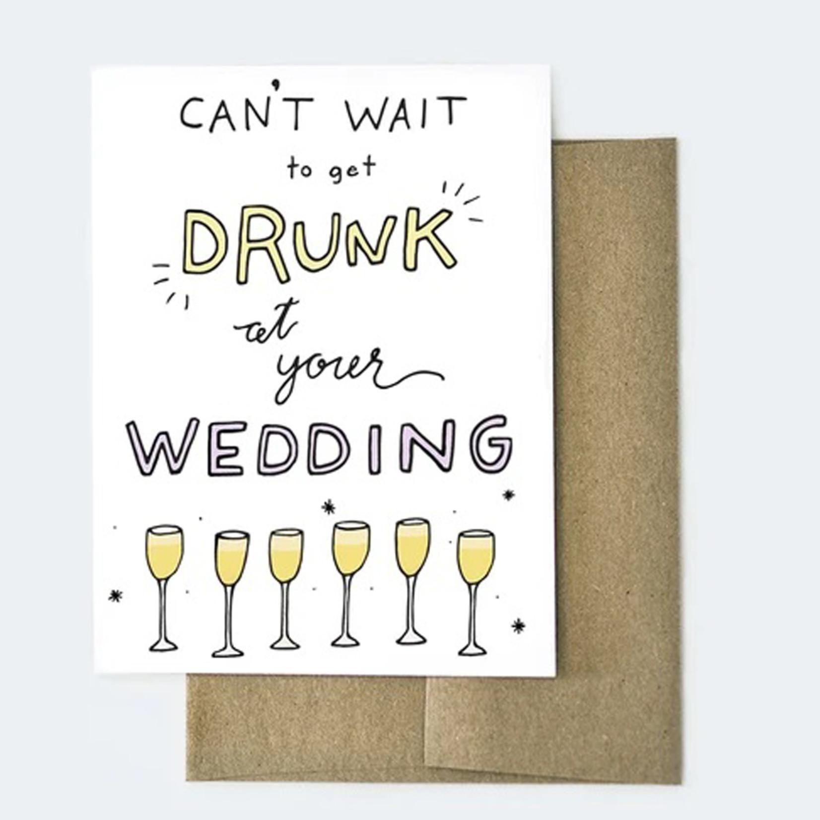 Aviate Press Drunk Wedding Card