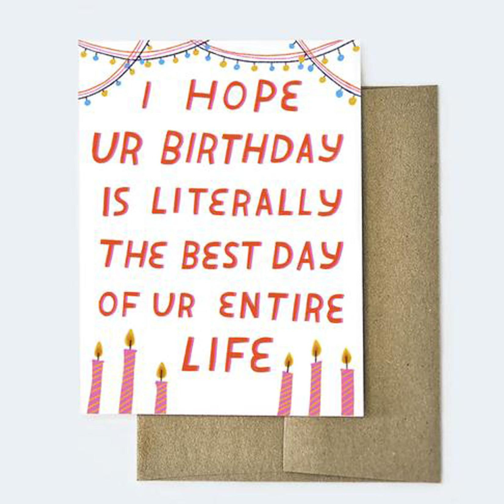 Aviate Press Literal Birthday Card