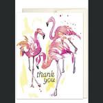 Jillian Ohl Flamingo Thank You Card