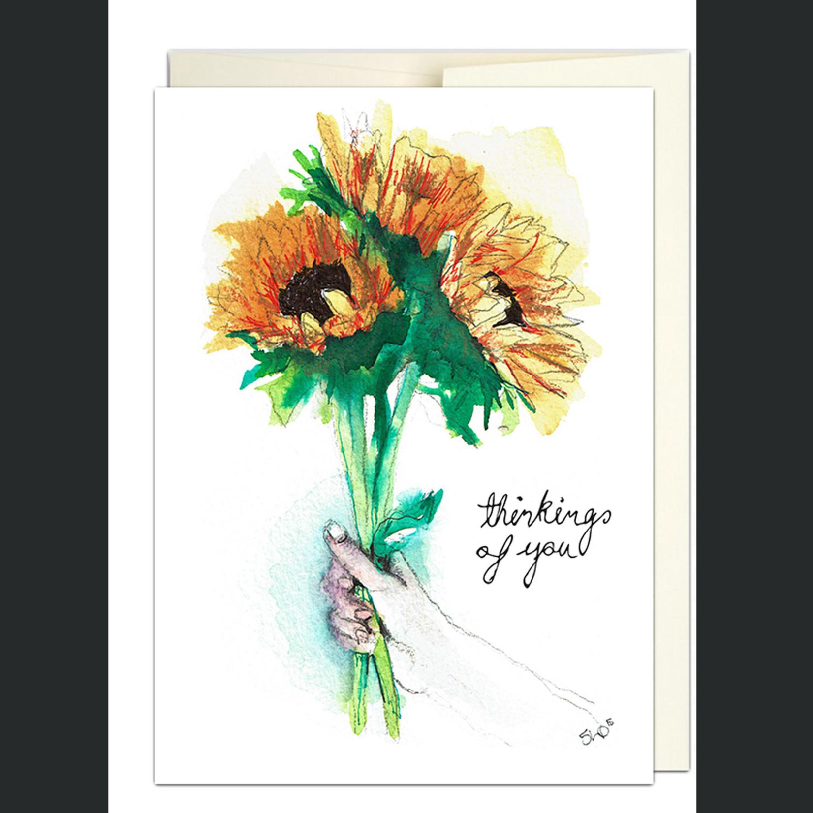 Jillian Ohl Thoughtful Sunflower Card