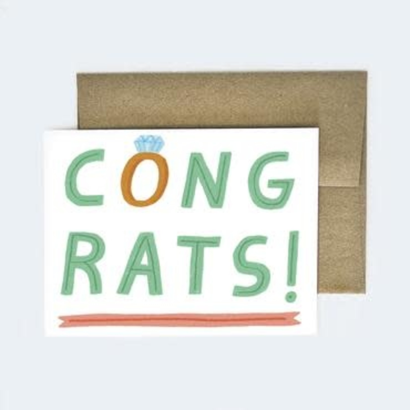 Aviate Press Congrats Wedding Card