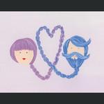 TYLRE Braid Heart Boy + Girl Card