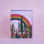 Rainbow Cactus Card