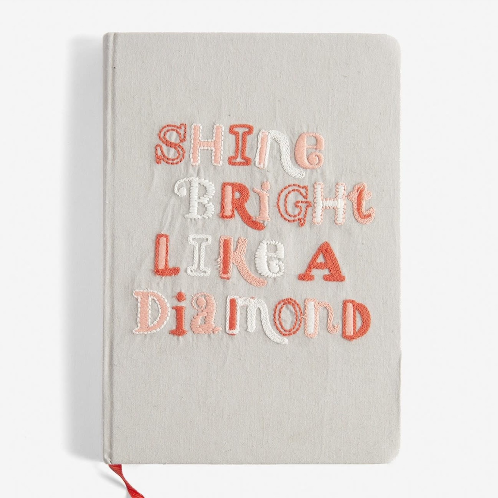 Embroidered Cotton Journal