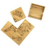 NC Puzzle 4 pc Coaster Set