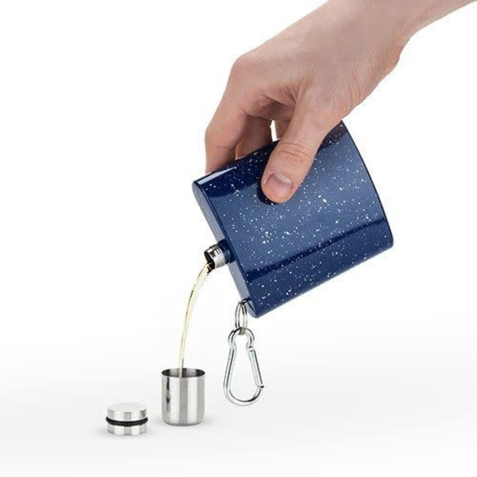 Enamel Carabiner Flask