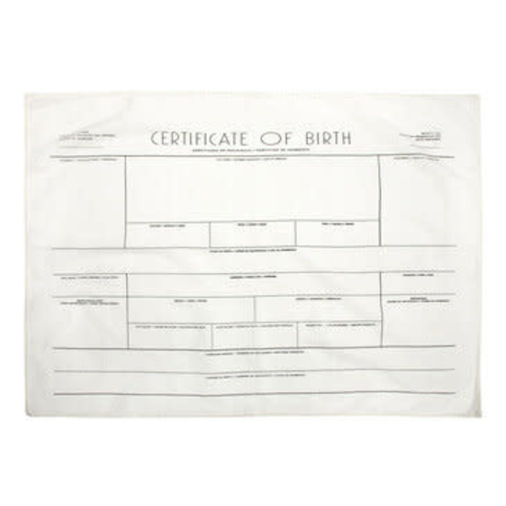 Certificate of Birth Swaddle