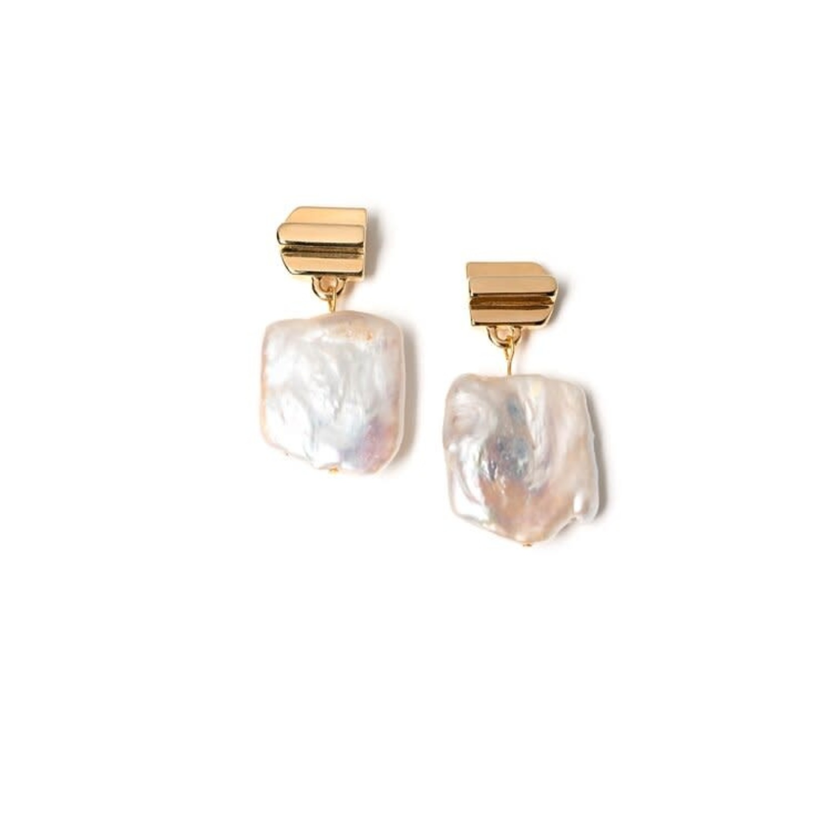 VUE by SEK Gold Layered Dome Earrings