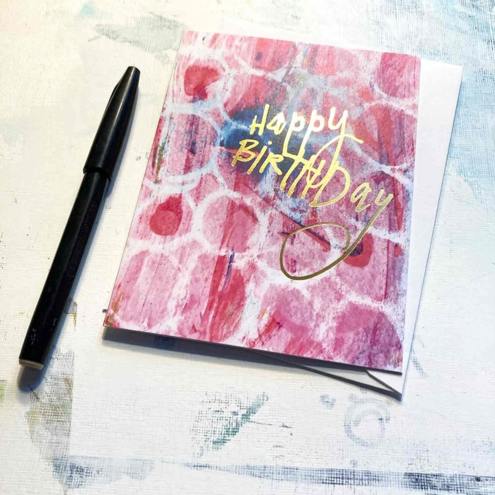 Hilary Meehan Art Products Happy Birthday w/Gold Foil