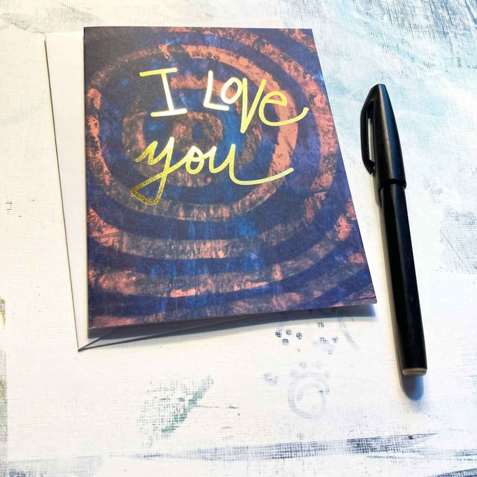 Hilary Meehan Art Products I Love You w/Gold Foil